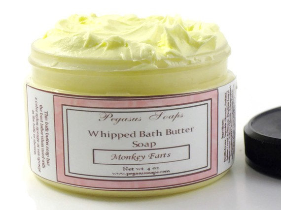 Lemon Sugar Whipped Bath Butter Soap 4 oz