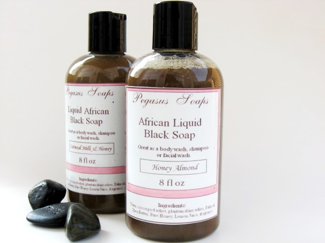 Liquid African Black Soap 8 oz Vanilla Sandalwood