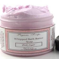 Pink Lemonade Whipped Bath Butter Soap. 4 oz