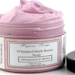 Pomegranate & Berries Whipped Bath Butter Soap
